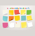 different color paper stickers collection vector image vector image