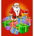 santa claus magic christmas illustrati vector image