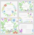 Cute invitation or wedding card vector image
