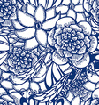 Floral hand drawn seamless pattern in tattoo style vector image