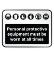 Black Health and Safety sign vector image