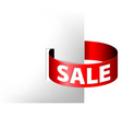 sale red paper ring vector image