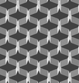 Monochrome pattern with gray intersecting thin vector image