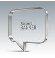 Shiny metal banner eps 10 vector image vector image