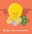 Flat design colorful concept for crowdfunding vector image