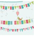 retro birthday card vector image vector image