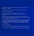 blue screen of death vector image