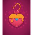 cake looks like a heart vector image