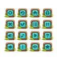 Cartoon square buttons menu set vector image