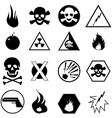 Danger warning icons set vector image