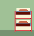 Flat Design Empty Bunk Bed vector image