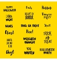 Halloween quotes at yellow vector image