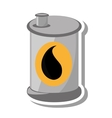 oil barrel tank isolated icon vector image