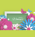 pink blue happy women s mother s day 8 march vector image