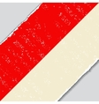 Indonesian grunge flag vector image
