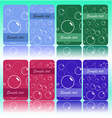 set of cards with bubbles vector image