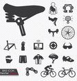 Bike icon set vector image