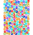 social media icons seamless pattern background vector image vector image