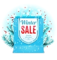 Winter Sale Shopping Bag vector image