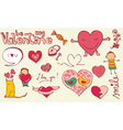 love doodles vector image vector image