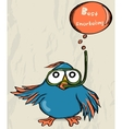 Poster with funny bird vector image