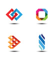 abstract logo design elements vector image