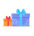happy easter gift boxes isolated on white vector image