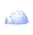 icon igloo vector image