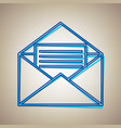 letter in an envelope sign vector image
