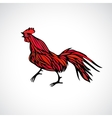 Red rooster outline vector image