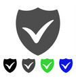 shield valid flat icon vector image