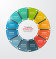 pie chart infographic template 12 options vector image