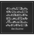 Cars collection sketch for your design vector image