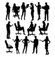 career silhouette female workers vector image
