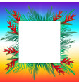 palm leaves on frame vector image