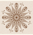Abstract Ethnic Floral Design Element vector image