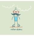 roller-skates vector image vector image