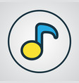 musical note colorful outline symbol premium vector image