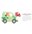 a man in a car overtakes another man vector image