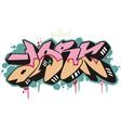 Graffito - dark vector image