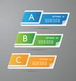 Sticker label paper colorful set vector image vector image