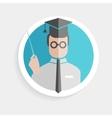 round paper icon successful man vector image