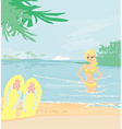 girl on vacation vector image