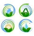 environmental design elements vector image vector image