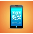 Barcode scanner phone vector image