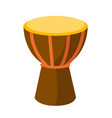 african tam tam drum cartoon vector image