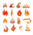 Fire icon sketch vector image