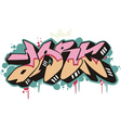 Graffito - dark vector image