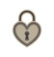 heart lock love padlock key keyhole icon symbol vector image