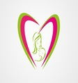 Mother care logo eps vector image